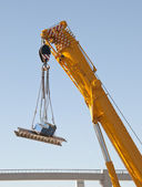 Crane in action — Stock Photo