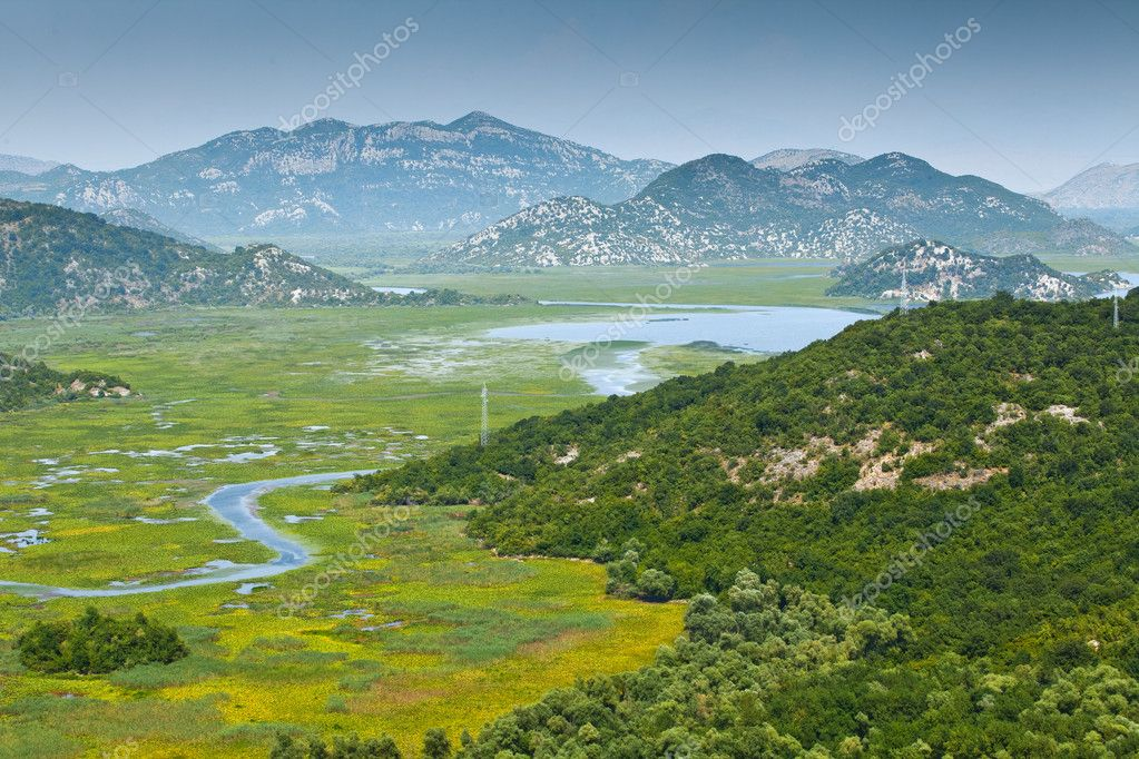 The Skadar lake (Skadarsko jezero) in Montenegro  Stock Photo #6838629