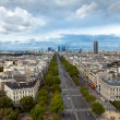 The landscape of Paris city, France — Stock Photo