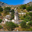 Stone bell tower of Chapel of Our Lady of Salvation in Kotor — Stock Photo