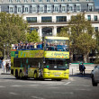 Excursion tourist bus in Paris, France - Stock Photo