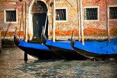 Gondolas in Venice city, Italy — Stock Photo