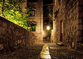 Dubrovnik street at night — Stock Photo
