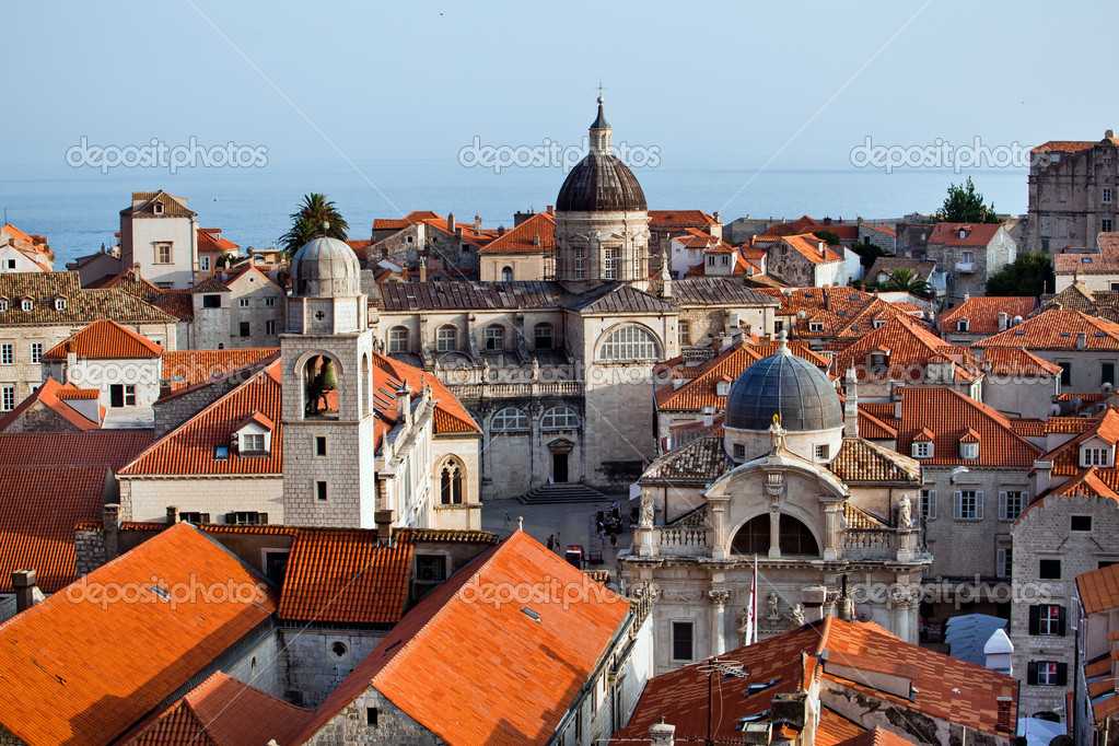 The landscape of Dubrovnik old city, Montenegro  Stock Photo #6852825