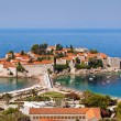 Panorama of Sveti Stefan view, Montenegro — Stock Photo