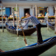 Gondolier in Venicy city, Italy — Stock Photo