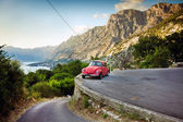 Old retro car in Montenegro — Stock Photo