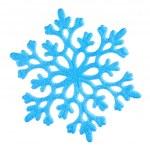 Single blue snowflake on white — Stock Photo #7669107