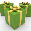 3d gift box celebration — Stock Photo
