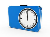 3d time glock alarm blue — Stock Photo