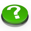 3d green questionm mark button — Stock Photo