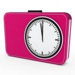 3d time glock alarm pink — Stock Photo #7346499