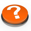 3d button orange question mark — Stock Photo