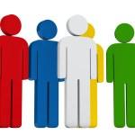 Руководство красочные группа — Стоковое фото