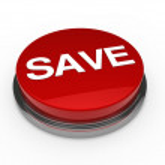 Button green chrome save — Stock Photo