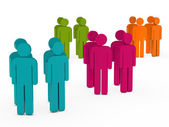 Team group colorful in circle — Stock Photo