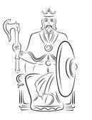 Векторный король - воин — Stock Vector
