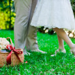 Feet of the groom and the bride — Stock Photo #7695351