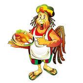 Dessin animé cuisinier coco — Vecteur