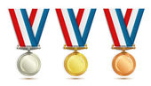 Set of medals — Stock Vector
