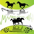 Running horses — Vector de stock #7299729