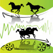 Vector de stock : Running horses