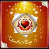 Valentine's day card — Stockvector