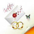 Wedding card - Stok Vektör