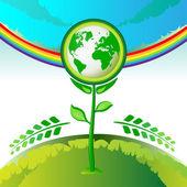 Eco ziemi kwiaty — Wektor stockowy
