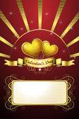 Ημέρα του Αγίου Βαλεντίνου κάρτα — Διανυσματικό Αρχείο