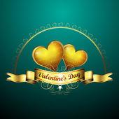 Valentine's day card — Vecteur