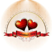 Valentine's day card — Vettoriale Stock