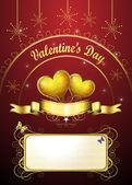 Valentine's day card — Stockvektor