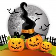 Halloween pumpkin — Stock Vector #7346616