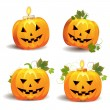 Royalty-Free Stock Vector: Halloween pumpkins