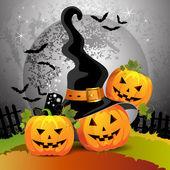 Halloween pumpkin — Vector de stock
