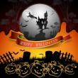 Halloween card - Stockvectorbeeld