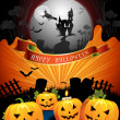 Halloween card - Stok Vektr
