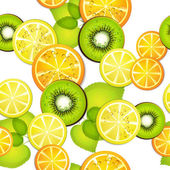 Seamless pattern with fruits — Stock Vector