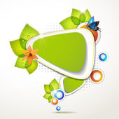 Green banner — Stock Vector