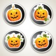 Labels with pumpkins — Vector de stock