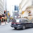 Street life - illustrative, blurred image — Stok fotoğraf