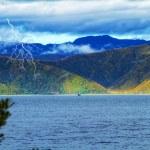 Sea and mountains - near Wellington, NZ — Stock Photo #7407597