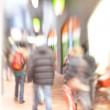 Street life - illustrative, blurred image — Stock Photo