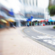 Street life - illustrative, blurred image — Stock Photo