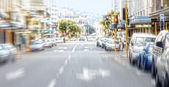 City life - motion blurred — Foto Stock