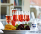 A photo of A glass of rosy wine — Stock Photo