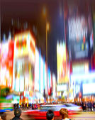 Street life in New York - blurred — Stock Photo