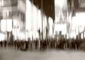 City Life - motion blurred illustration — Stock Photo