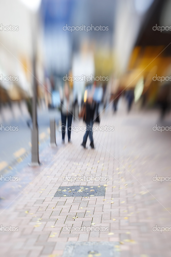 Street life in New York - illustrative, blurred image daytime — Stock Photo #7407408